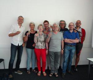 Ärztenetz Vorstand v. l. n. r. Dr. Kubitschek, I. Hellriegel, Dr. I. Schwarz-Aldorf, Dr. W. Ecca, R. Aldorf, Dr. G. Ebert, Dr. T. Drabe, Dr. H. Teltschik